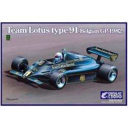 Team Lotus Type 91 1982 GP Bélgica.