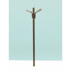 Two-light wooden pole.