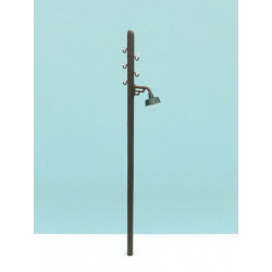 Wooden pole with light and laying.