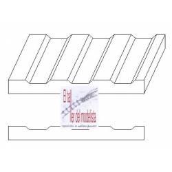 Plancha 15 x 30. Metal corrugado 2,0 mm. EVERGREEN 4528