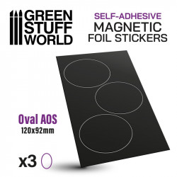 Oval magnetic sheet self-adhesive 120x92 mm.