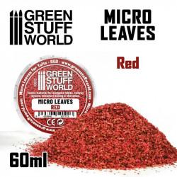 Micro hojas. Color rojo.
