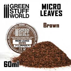 Micro leaves. Brown.
