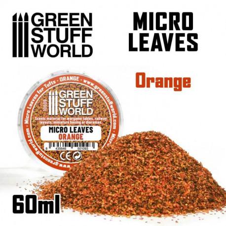 Micro leaves. Orange.