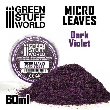 Micro leaves. Dark purple.