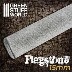 Rodillo: pavimento de piedra. 15 mm.