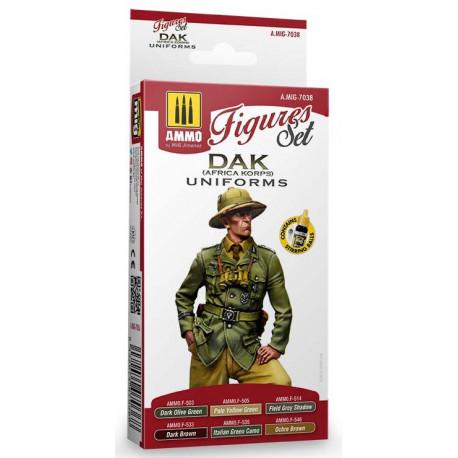 DAK uniforms (Áfrika Korps) figures set.