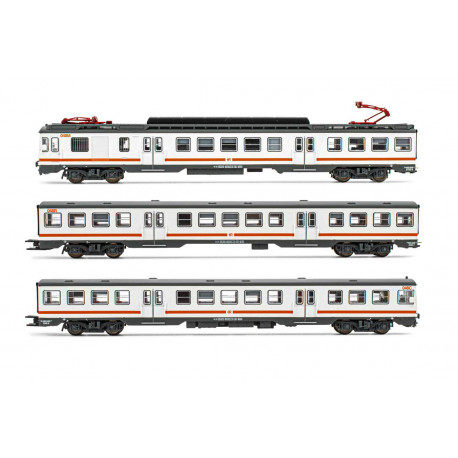 "RENFE, 3-unit EMU, class 440. ""Regionales"". Sound."