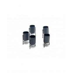 Metal bins (x5).