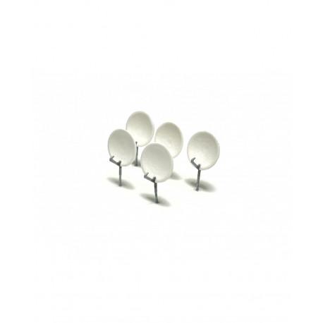 Satellite dishes (x5).