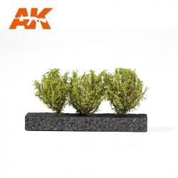Arbustos, verde claro.