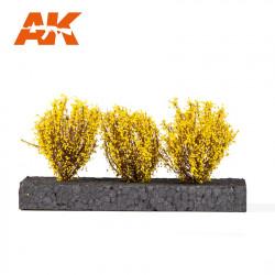 Light yellow bushes.