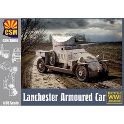 Lanchester armoured car.