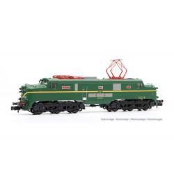 Locomotora 277.003 (verde-amarillo), RENFE. Sonido.