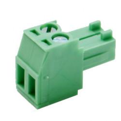 Plug clamp RM3.5 2-pole green.