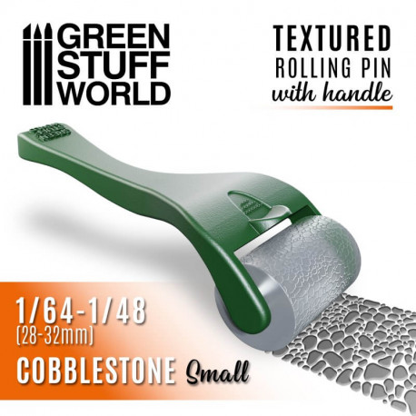 Rolling pin with handle, cobblestone small.
