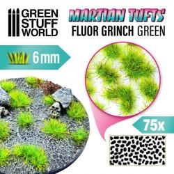 Martian fluor tufts, fluor grinch green (6 mm).