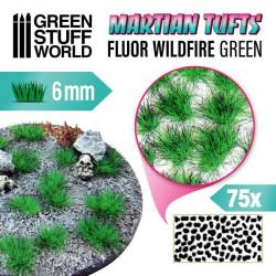 Martian fluor tufts, fluor wildfire green (6 mm).