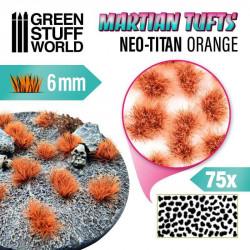 Martian fluor tufts, neo-titan orange (6 mm).