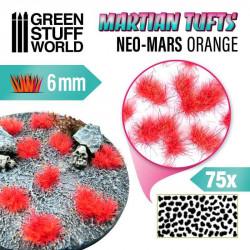 Martian fluor tufts, neo-mars orange (6 mm).
