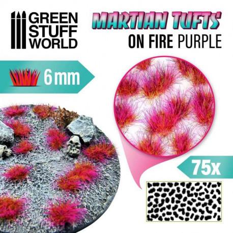 Martian fluor tufts, on fire purple (6 mm).