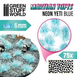 Matas de césped alien, neon yeti azul (6 mm).