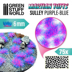 Martian fluor tufts, sully purple-blue (6 mm).