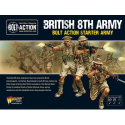 British 8th army. Bolt Action Starter Army.