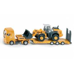 Low loader with four wheel loader.