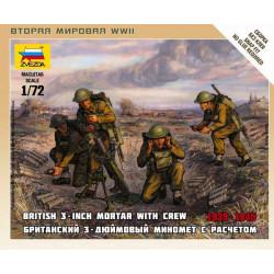 Mortero británico y tripulación. ZVEZDA 6168