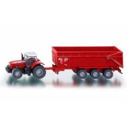 Massey-Ferguson MF 8480 tractor with trailer.