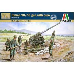 Italian 90/53 gun with crew.