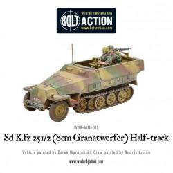 Sd.Kfz 251/2 Ausf D (8cm Granatwerfer) Half Track. Bolt Action.