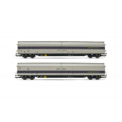 Railadventure sliding wall wagon (x2).