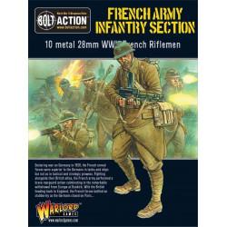 Sección de infantería del ejército francés. Bolt Action.