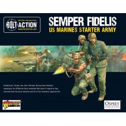 Semper Fidelis-Ejército Marines de EE. UU. Bolt Action Starter Army.