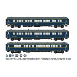 CIWL sleeper coaches set, S1 and S2.