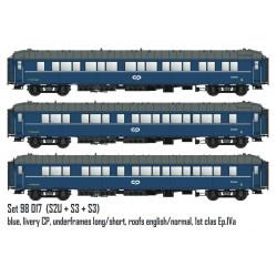 Set de coches cama S2U y S3, CIWL/CP
