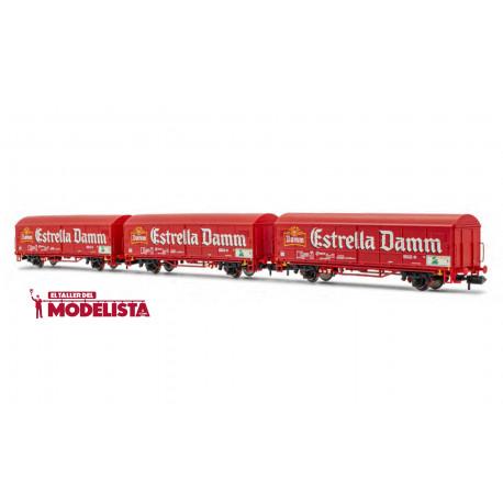 Set of JPD coaches ''Estrella Damm'', RENFE.