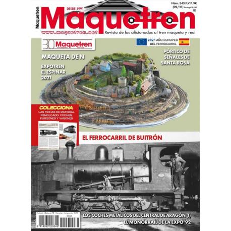 Revista Maquetren, nº 343.