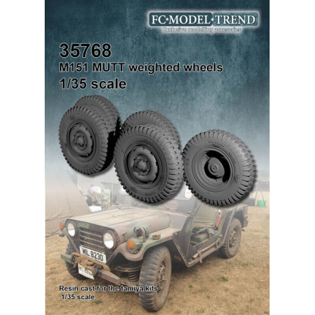 Wheel set for Ford MUTT M151.