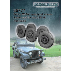 Wheel set for M38A1 Jeep.