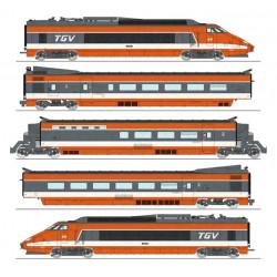 TGV PSE, Rame 69, SNCF. 5 coaches.