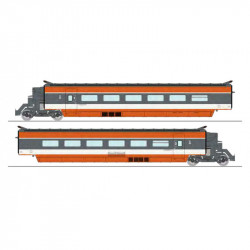 TGV PSE, Rame 69, SNCF. 2 coaches.