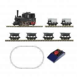 H0e Analogue Starter Set: Steam locomotive.