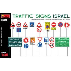 Señales de carretera israelíes.