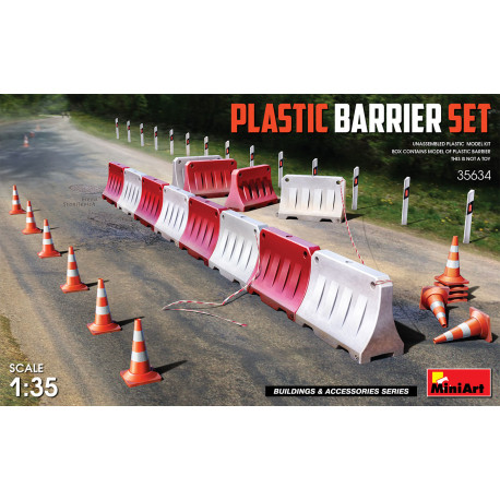 Plastic barrier set.