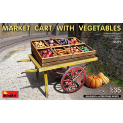 Market car with vegetables.