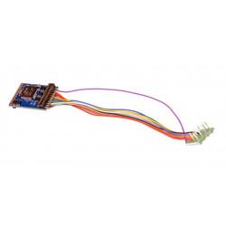 LokPilot V4.0 DCC decoder, 8-pin plug.