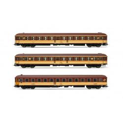 """3-unit set """"Estrella"""" train, RENFE."""